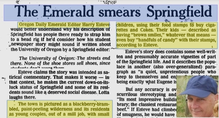 Harry Esteve Guard Oregonian Smear Expert