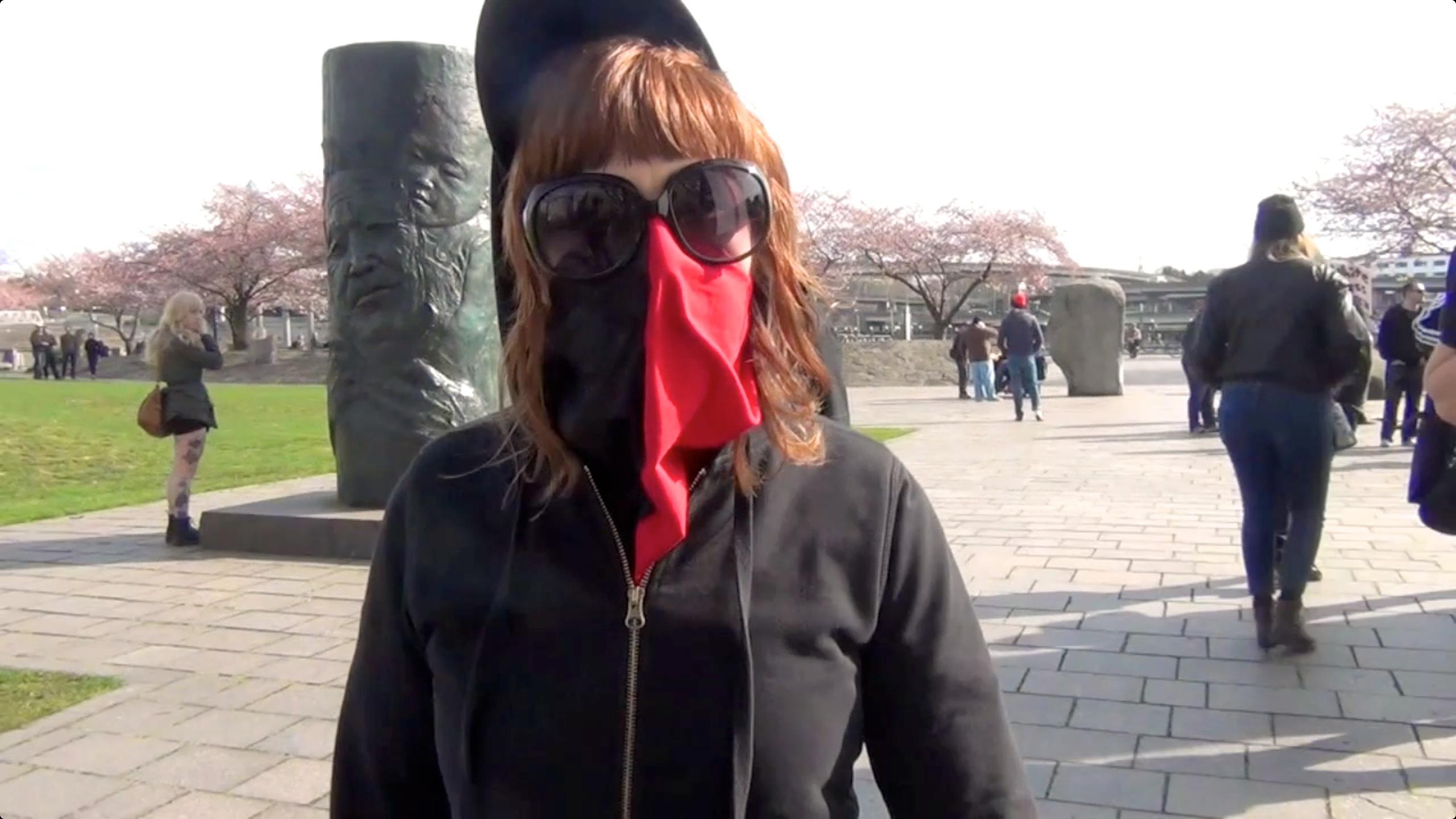 masked anarchist ant-nazi