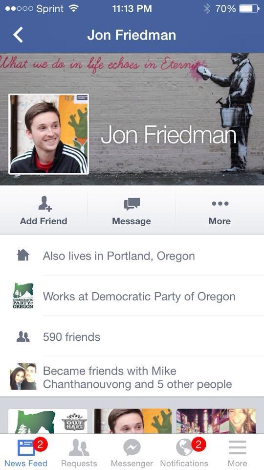 jon friedman on FB