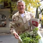 "DECORATED VET SAYS ""NO ON 91"" WITH 50 POUND BAG OF ""WEED"""