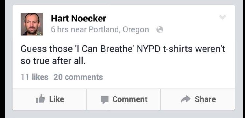 """Don't Shoot PDX's"" Hart Noecker Gloats over death of police officers"